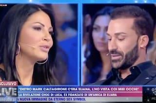 """Live, Luca Muccichini: """"Eliana Michelazzo ha pubblicato un selfie sul profilo di Mark Caltagirone"""""""