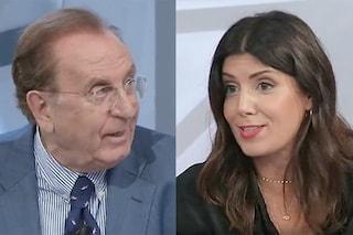 Michele Mirabella e Daniela Collu, lite che si fa scontro generazionale a Tagadà