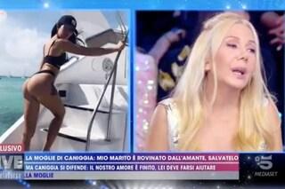 """Live, la moglie di Claudio Caniggia fuori controllo: """"La sua fidanzata è una tr**a che lo droga"""""""