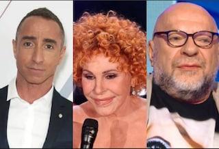 """I giudici di """"Amici Celebrities"""": Mauro Coruzzi, Giuliano Peparini e Ornella Vanoni"""