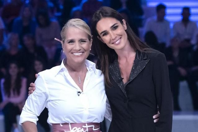 Heather Parisi con Silvia Toffanin a Verissimo