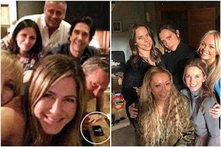 """""""Cocaina sul cellulare"""", la reazione alla foto del cast di Friends uguale a quella delle Spice Girls"""