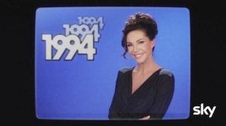 """Emanuela Folliero torna a fare l'annunciatrice, ma è uno spot di """"1994"""""""