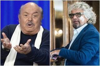 """Lino Banfi risponde a Beppe Grillo: """"Fondo partito Nonni Liberi Inca... e gli porto via voti"""""""