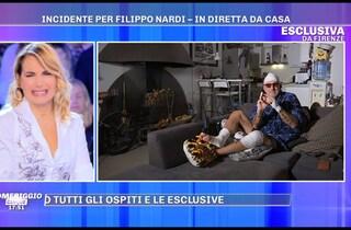 """Incidente per Filippo Nardi che mostra le ferite a Barbara d'Urso: """"Ho perso un pezzo di dito"""""""