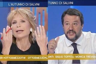 """Matteo Salvini: """"Tornerò a fare il ministro in costume"""", Lilli Gruber: """"Magari senza la pancia..."""""""