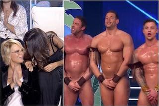 I Candymen infiammano le De Filippi/Ferilli: ecco il video del nudo integrale nella loro esibizione