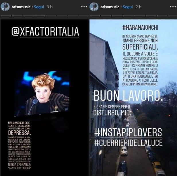 Arisa attacca Mara Maionchi su Instagram: