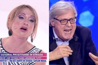 "Vittorio Sgarbi e Vladimir Luxuria, lite furiosa: ""Ce l'hai il caz*o o no?"""
