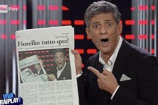 """Viva RaiPlay, Fiorello: """"Non ho paura degli hater. Battute sul PD? Come sparare sulla Croce Rossa"""""""