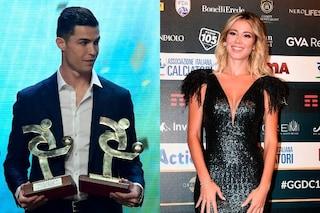 """Diletta Leotta attira gli sguardi di Ronaldo al Galà del Calcio, lei: """"Il mio preferito"""""""