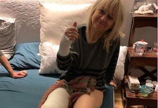 Incidente per Luciana Littizzetto, i messaggi social di Hunziker, Lagerback, Barale e Clerici