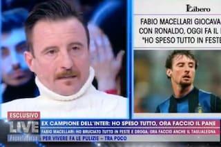 """Fabio Macellari, ex calciatore dell'Inter, oggi fa il panettiere: """"Non ho capito la mia fortuna"""""""