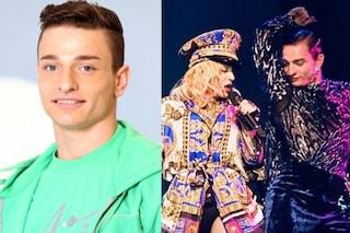 Daniele Sibilli: eliminato da Amici, ora balla con Madonna. Il video con l'abbraccio alla popstar
