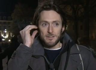"""Niccolò Pagani tra le sardine a Torino, l'ex campione de L'Eredità: """"Sono solo uno tra i tanti"""""""