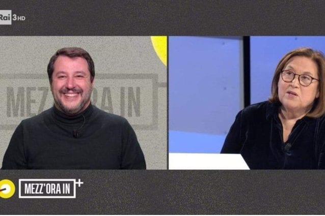 Matteo Salvini, gaffe di Lucia Annunziata: