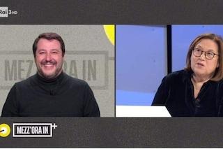 """""""Ha messo il coglioncino a collo alto"""": la gaffe di Lucia Annunziata durante l'intervista a Salvini"""