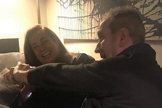 Lamberto Sposini ride con Cesara Buonamici, la foto commovente su Instagram