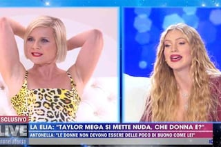 """Taylor Mega contro Antonella Elia: """"Ti consiglio di depilarti, ringraziami perché ti ho riesumata"""""""
