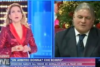 """Vessicchio, radiato dall'Ordine, attacca la D'Urso: """"Fai tv becera"""". Barbara: """"Salutame a soreta"""""""