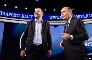 """A Porta a Porta lo spot elettorale di Salvini durante Juve-Roma, Vespa ammette: """"È stata una svista"""""""