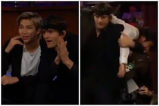 Ashton Kutcher e i BTS giocano a nascondino al Late Late Show