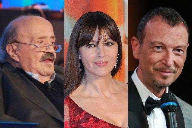 Maurizio costanzo difende amadeus monica bellucci stia for Daniela costanzo