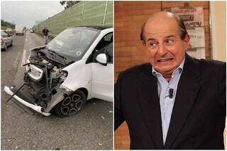 """Giancarlo Magalli condivide foto incidente in auto: """"Brutto, ma non si è fatto male nessuno"""""""