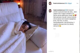 """GF Vip, Federico Rossi alla fidanzata Paola Di Benedetto: """"Orgoglioso di te, ti aspetto"""""""