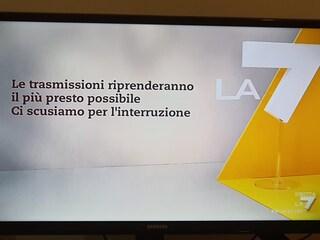La7 ferma per guasto, si blocca Propaganda Live: va in onda la pubblicità
