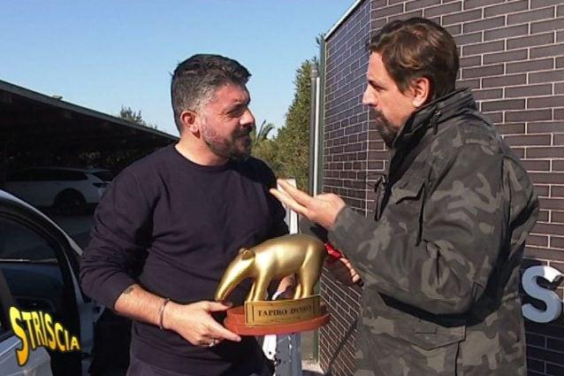 Napoli, Tapiro d'oro per Gattuso: