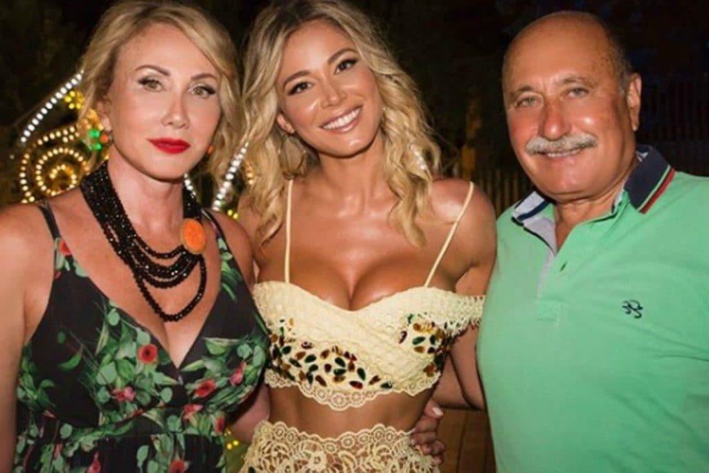Diletta Leotta con mamma Ofelia e papà Rori