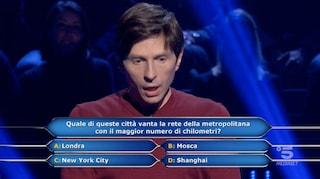 Chi vuol essere milionario?, è Shanghai la città con il maggior numero di km della metropolitana