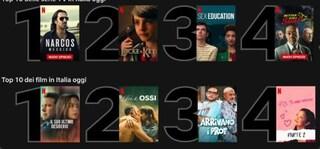 Netflix aggiunge la Top Ten, la classifica giornaliera di film e serie tv più visti in ogni Paese