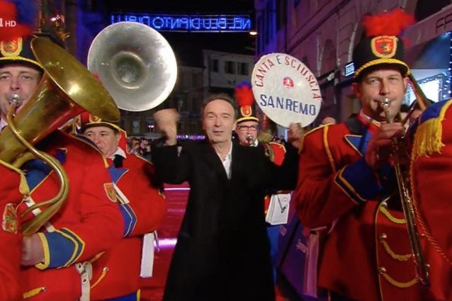 Roberto Benigni arriva al Festival di Sanremo 2020