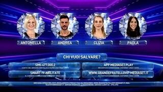 GF Vip, Pago eliminato. In nomination: Antonella Elia, Andrea Montovoli, Paola Di Benedetto e Clizia