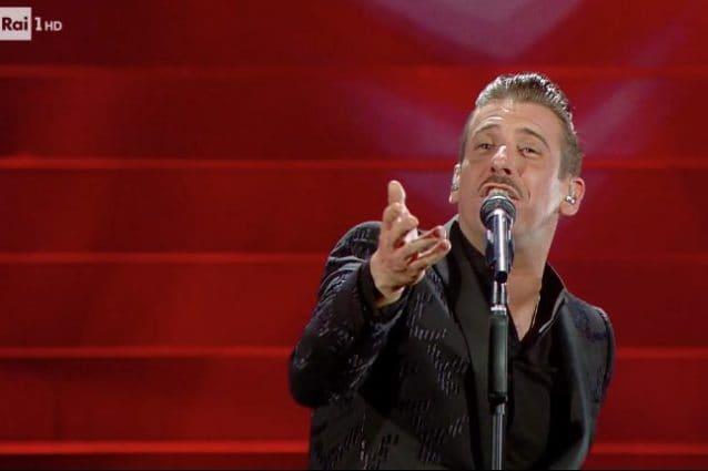 Francesco Gabbani alla finale del Festival di Sanremo 2020