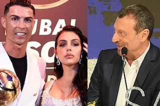 """Amadeus: """"Cristiano Ronaldo a Sanremo? Aspetto Georgina Rodriguez, lui lo guarderà da casa"""""""