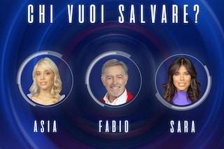 Gf Vip, quindicesima puntata: nominati Sara Soldati, Asia Valente e Fabio Testi
