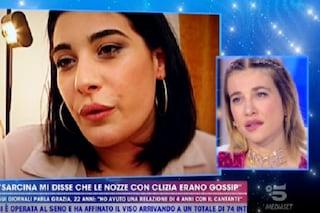 """Clizia Incorvaia accusata dall'amante di Sarcina: """"Calcolatrice"""". Poi glissa alla domanda sull'età"""