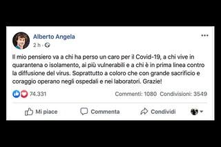 """Alberto Angela: """"Il mio pensiero va a chi ha perso un caro per il Coronavirus"""""""