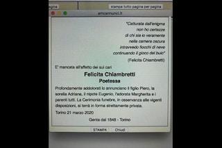 Coronavirus, Piero Chiambretti ricorda la madre poetessa Felicita con i suoi versi