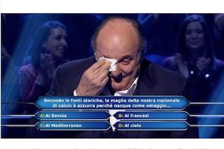 """""""Chi vuol essere milionario?"""", Gerry Scotti non trattiene le lacrime: 'Mi ricorda il mio papà'"""