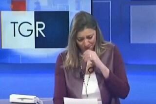 Giornalista del Tg3 Basilicata scoppia a piangere annunciando la morte del piccolo Diego