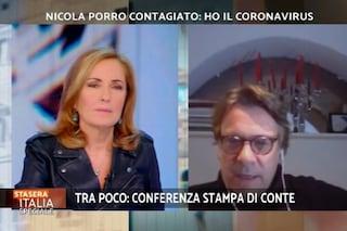 """Nicola Porro positivo al Coronavirus: """"Ho tosse e febbre a 39, non mi sta seguendo nessuno"""""""