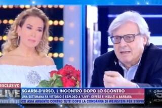 """Sgarbi non si scusa con la D'Urso: """"Berlusconi mi disse che in Mediaset sei la più brava"""""""