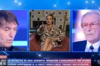 """Asia Argento: """"Gerini stava con Lombardi, pappone di Weinstein"""", Barbara D'Urso: """"Mi dissocio"""""""