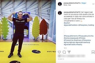 """GF Vip 2020, Pasquale Laricchia salta l'ora fitness per il coronavirus: """"Motivi di sicurezza"""""""