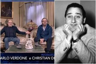 """Alberto Sordi ricordato da Verdone e De Sica: """"Annullò le nozze, la sposa lo seppe dal segretario"""""""