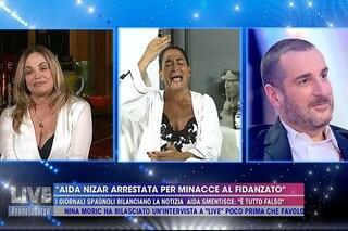 """Aida Nizar in lacrime: """"L'arresto è una bufala"""". Simona Izzo: """"L'hai inventata tu, sei pazza"""""""